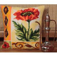 Valiant Poppy Chunky Cross Stitch Cushion Front Kit