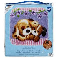"Cuddling Dogs Latch Hook Kit from Vervaco 54x62cm (22x21"")"