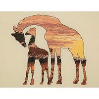 Maia Collection - Giraffe Silhouette Counted Cross Stitch Kit