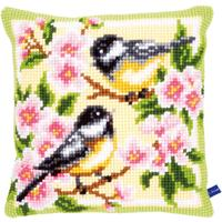 Birds & Blossoms  ~  Chunky Cross Stitch Cushion Front Kit