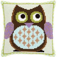 Mr.Owl  Chunky Cross Stitch Cushion Front Kit
