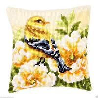 Chaffinch Chunky Cross Stitch Cushion Front Kit 40x40cm