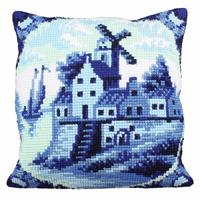 Delftware Chunky Cross Stitch Cushion Front Kit