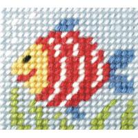 Rainbow Fish- My First Embroidery Kit - 11x13cm approx