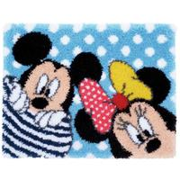 Latch Hook Rug: Mickey & Minnie - Peek-a-boo. A Disney Kit By Ve