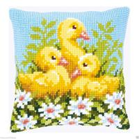 Ducklings Chunky Cross Stitch Cushion Front Kit 40x40cm