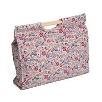 Knitting & Sewing Bag with Wooden Handles - Pink Notions