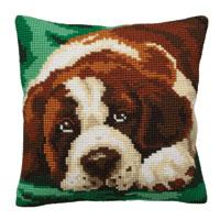St.Bernard Chunky Cross Stitch Cushion Front Kit