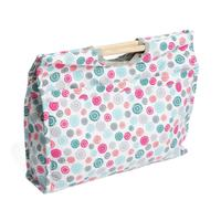 "Knitting & Sewing Bag with Wooden Handles -""Scattered Buttons"" D"