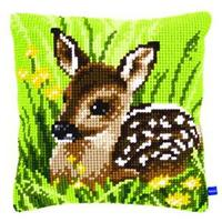 Little Deer Vervaco Chunky Cross Stitch Cushion Front Kit