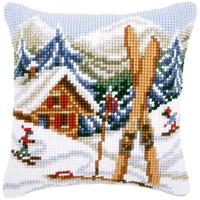 Snow Fun ~ Chunky Cross Stitch Cushion Front Kit