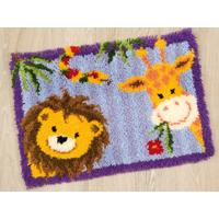 Giraffe & Lion Vervaco Latch Hook Kit 22x16""