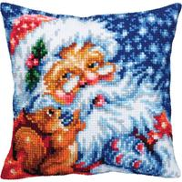 Santa Chunky Cross Stitch Cushion Front Kit