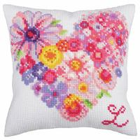 Heart For You CDA Chunky Cross Stitch Cushion Front Kit