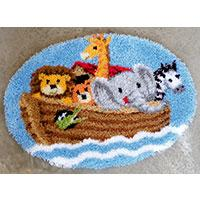 Noah's Ark Latch Hook rug making kit. Vervaco