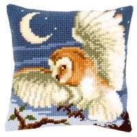 NEW - Night Owl Chunky Cross Stitch Cushion Front Kit By Vervaco