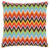 Zigzag Lines Longstitch chunky cross stitch cushion front kit