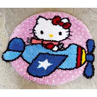 Hello Kitty Plane Latch Hook rug making kit. Vervaco