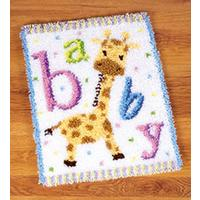 Baby Giraffe Latch Hook Kit 43x54cm