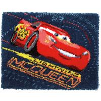Latch Hook Rug Lightning McQueen Screeching Tyres Disney Kit By
