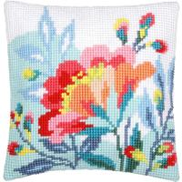Bright Flowers Chunky Cross Stitch Cushion Front Kit