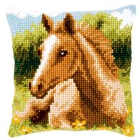 NEW  Foal Vervaco Chunky Cross Stitch Cushion Front kit