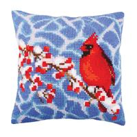 Winter Red Berries Chunky Cross Stitch Cushion Front Kit