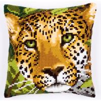 NEW - Leopard  Chunky Cross Stitch Cushion Front Kit by Vervaco