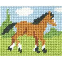 Trotting Foal - My First Embroidery Kit - 17x20cm approx