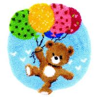 Bear With Balloons Latch Hook Kit 55x62cm