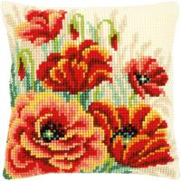 Poppies II Chunky Cross Stitch Cushion Front Kit