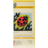 EuroCraft Latch Hook Kit -Lady Beetle  Printed canvas, yarns, ch
