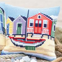 On The Coast Vervaco Chunky Cross Stitch Cushion Front Kit 40x40