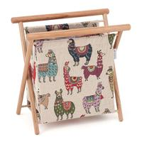 Llama Design Knitting Storage Frame. Beautifully Made for Craft