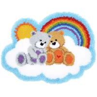 Care Bears Latch Hook Kit Rug Making Kit by Vervaco 70x53cm