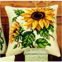 Sunflowers Chunky Cross Stitch Cushion Fron Kit Vervaco