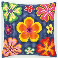 Flower Power Chunky Cross Stitch Cushion Front Kit