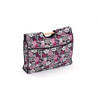 EMPTY cerise flower design knitting bag with wooden handles