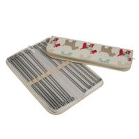 Scotty Dog Design Knitting Needle Case with 10 pairs of Pony Kni