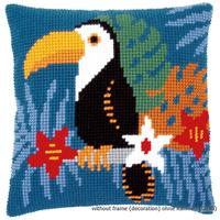 Toucan Chunky Cross Stitch Cushion Front Kit 40x40cm