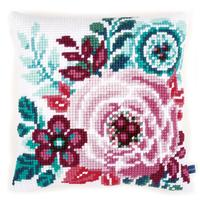 Flower PAradise 1 - Chunky Cross Stitch Cushion Front Kit 40x40