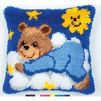 Teddy Pyjama Latch Hook Cushion Front Kit