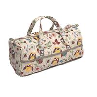 Owl Design Soft Handled Knitting Bag