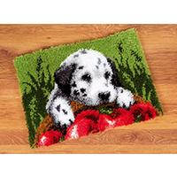 Dalmatian With Apples Latch Hook Kit 53x39cm