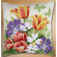 Spring Flowers Chunky Cross Stitch Cushion Front Kit