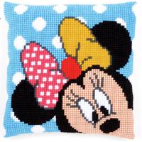 Peek-A-Boo Minnie Mouse Chunky Cross Stitch Cushion Front kit 40
