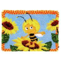 Maya & Sunflowers Latch Hook rug making kit. Vervaco