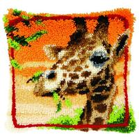 Giraffe Latch Hook Kit 40x40cm Vervaco