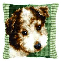 Terrier Puppy Chunky Cross Stitch Cushion Front Kit