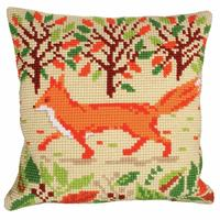 Red Fox Chunky Cross Stitch Cushion Front Kit